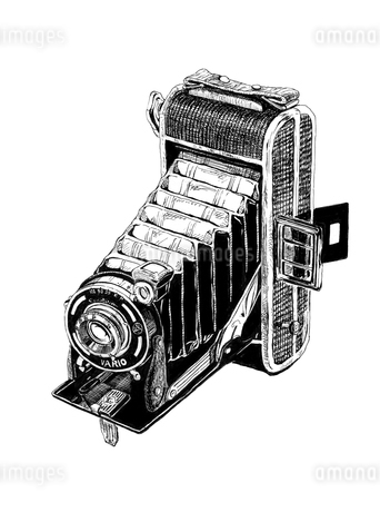 アンティークなカメラのイラスト素材 [FYI01825783]