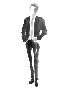 正面向きビジネスマンのイラスト素材 [FYI01825799]