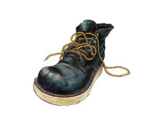 履き倒したブーツのイラスト素材 [FYI01825956]