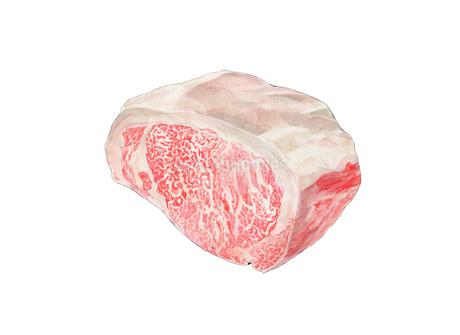 高級な霜降肉のイラスト素材 [FYI01825991]