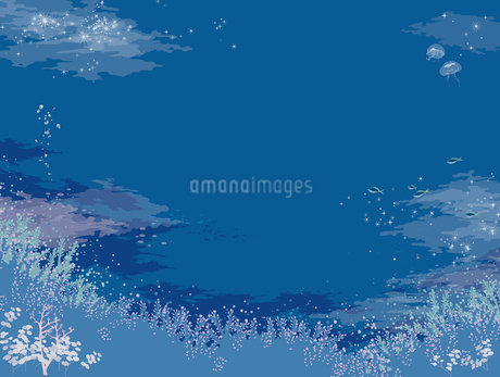 きらきらと光る海底のイラスト素材 [FYI01826261]