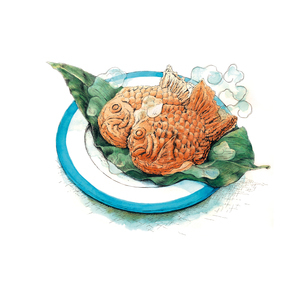 アツアツホクホクな鯛焼きのイラスト素材 [FYI01826303]