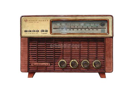 佇まいがドラマチックなラジオ トランジスタラジオ ノスタルジックなもののイラスト素材 [FYI01826512]