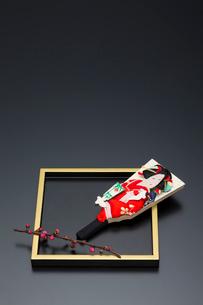 梅の枝と盆と羽子板の写真素材 [FYI01826710]