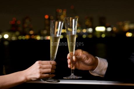 シャンパンで乾杯の写真素材 [FYI01833405]