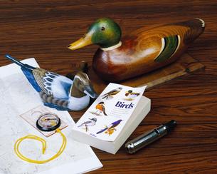 机の上の趣味のものの写真素材 [FYI01834008]