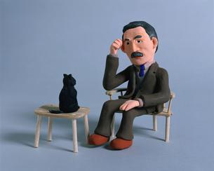 夏目漱石 フォトイラストの写真素材 [FYI01834027]