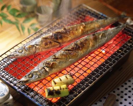 焼き魚(サンマ)の写真素材 [FYI01835299]