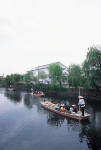 柳川の川下りの写真素材 [FYI01836742]