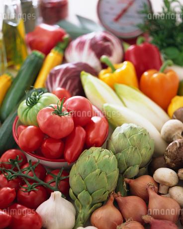 イタリアン野菜とトマトの写真素材 [FYI01836853]