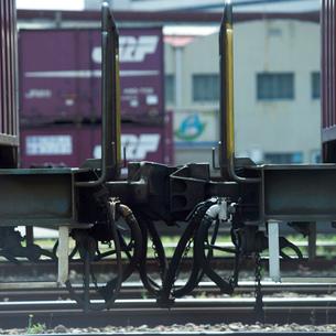 列車の連結器の写真素材 [FYI01836862]