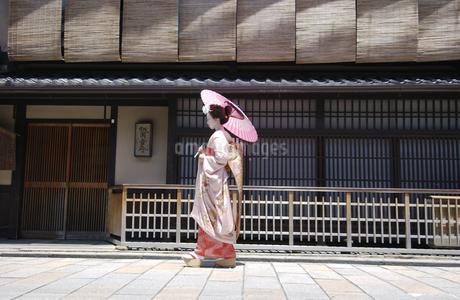 傘と舞妓の写真素材 [FYI01836982]
