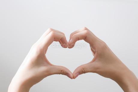 ハート型を作る女性の手の写真素材 [FYI01842111]