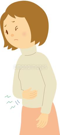 生理痛で苦しむ女性のイラスト素材 [FYI01843926]