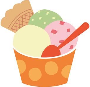 アイスクリームのイラスト素材 [FYI01843988]
