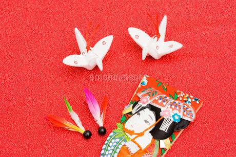 羽根と羽子板の写真素材 [FYI01846718]