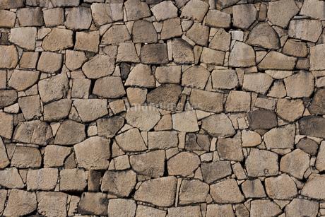大阪城の石垣の写真素材 [FYI01847413]