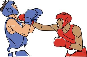 ボクシングのイラスト素材 [FYI01854617]