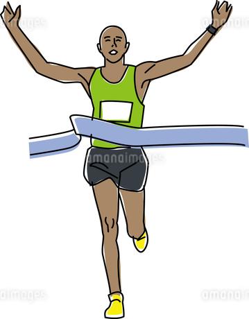 陸上競技 マラソンのイラスト素材 [FYI01855644]