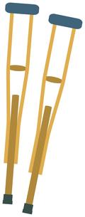 松葉杖のイラスト素材 [FYI01855801]