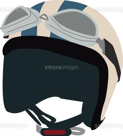 バイクのヘルメットとゴーグルのイラスト素材 [FYI01856381]