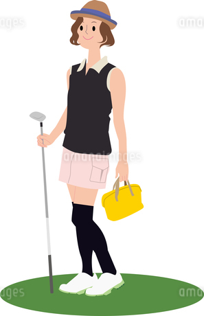 ゴルフ女子のイラスト素材 [FYI01857233]