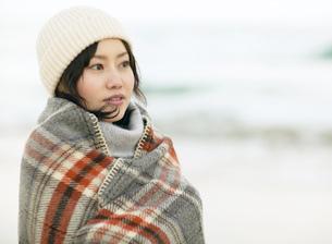 冬の日本人女性の写真素材 [FYI01860744]