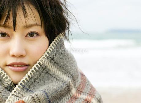 日本人女性のアップの写真素材 [FYI01861048]