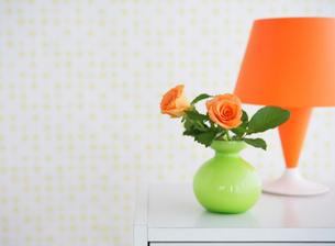 花瓶に生けた花の写真素材 [FYI01866146]