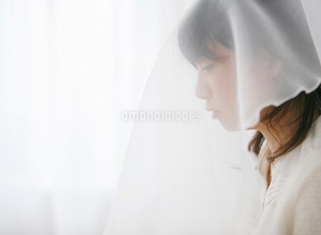 ベールをかぶる女性の写真素材 [FYI01868122]