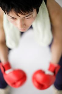 ボクシンググローブと男性の写真素材 [FYI01874133]