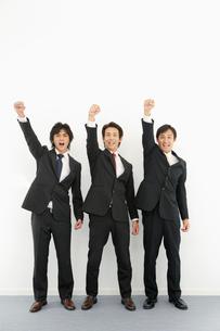 ガッツポーズをする日本人ビジネスマンの写真素材 [FYI01877600]