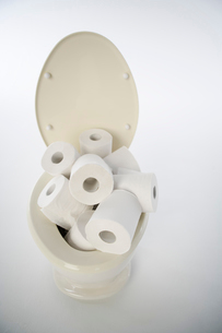 トイレとトイレットペーパーの写真素材 [FYI01878750]