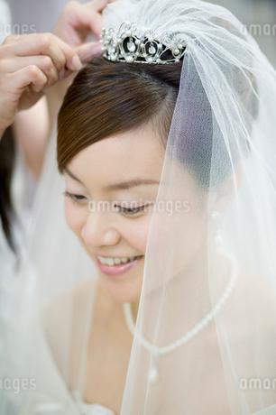 ティアラをつける新婦の写真素材 [FYI01881906]