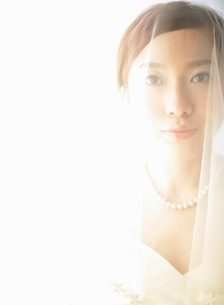 ウェディングドレス姿の女性の写真素材 [FYI01886112]