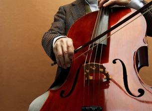 チェロを弾く男性の手元の写真素材 [FYI01886364]