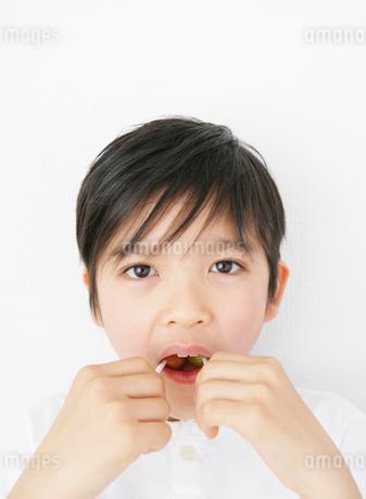 キャンディーをなめる子供の写真素材 [FYI01890217]