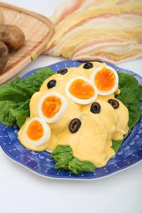 ジャガイモのチーズソースの写真素材 [FYI01892447]