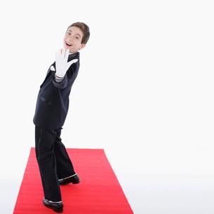 笑う男の子の写真素材 [FYI01894041]