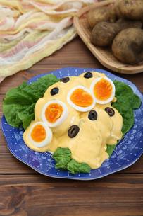 ジャガイモのチーズソースの写真素材 [FYI01896437]