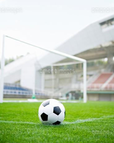 サッカーボールとスタジアムの写真素材 [FYI01902930]