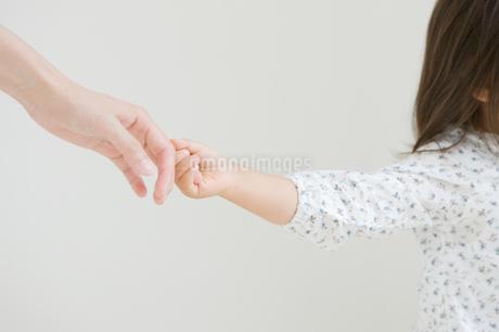 母と手を繋ぐ女の子の写真素材 [FYI01903751]