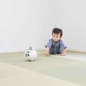 甚平を着た赤ちゃんの写真素材 [FYI01905538]