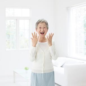 笑顔のシニア女性の写真素材 [FYI01906585]