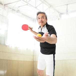 卓球をする男性の写真素材 [FYI01907291]
