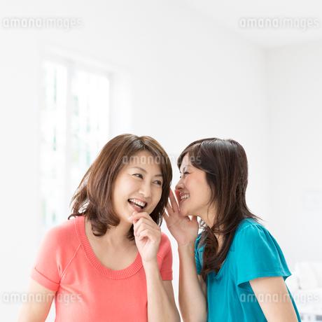 内緒話をする中高年女性の写真素材 [FYI01907913]