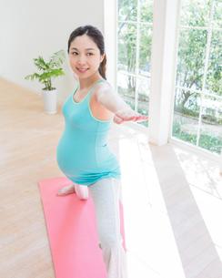 ヨガをする妊婦の写真素材 [FYI01909355]