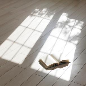 床の上の本の写真素材 [FYI01909816]