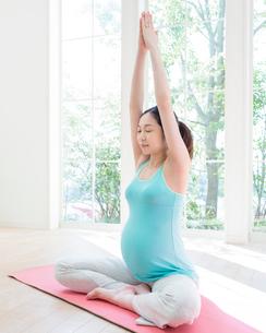 ヨガをする妊婦の写真素材 [FYI01910386]