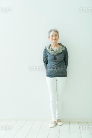 シニア女性のポートレートの写真素材 [FYI01913150]